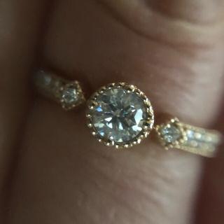 ダイヤモンド リングk18 PG(リング(指輪))