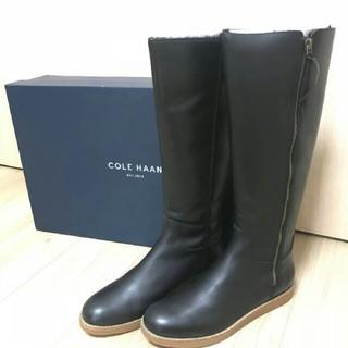 コールハーン(Cole Haan)の新品☆COLE HAAN コールハーンロングブーツ☆ウォータープルーフ☆ブラック(ブーツ)