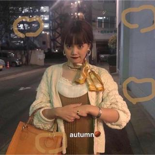 ビューティアンドユースユナイテッドアローズ(BEAUTY&YOUTH UNITED ARROWS)のAlia 𓇬 cable cardigan  6 roku  カーディガン(ニット/セーター)