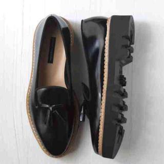 ファビオルスコーニ(FABIO RUSCONI)のファビオルスコーニ タンクソールタッセルツキガラスシューズ size37(ローファー/革靴)