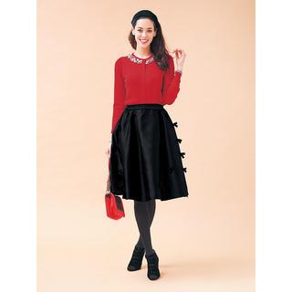 チェスティ(Chesty)のchesty チェスティ Ribbon Skirt ブラック(ひざ丈スカート)