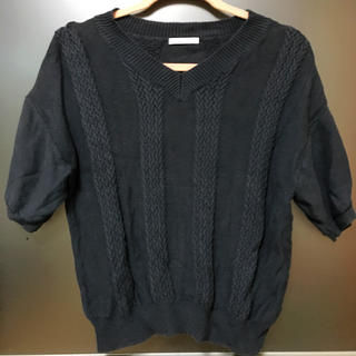 オペークドットクリップ(OPAQUE.CLIP)のニット トップス  半袖 美品(ニット/セーター)