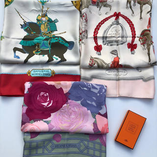 エルメス(Hermes)の【エルメススカーフ】カレ90とノッティングカードの4点セット(バンダナ/スカーフ)