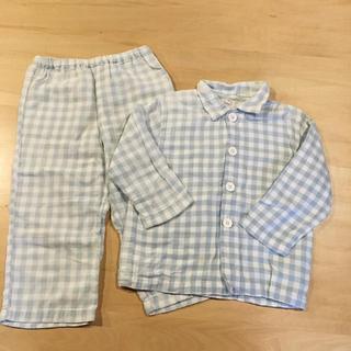 MUJI (無印良品) - 100㎝ MUJI 無印良品 ブルー パジャマ