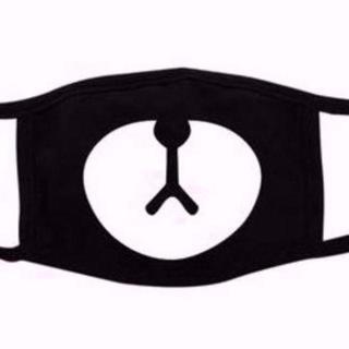 女子のミカタ クマ マスク 黒 ブラック マスク(その他)