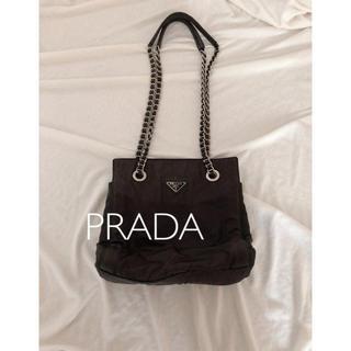 プラダ(PRADA)のPRADA定番 チェーンハンドナイロンショルダーバッグ(ショルダーバッグ)