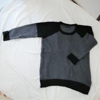 アズノゥアズオオラカ(AS KNOW AS olaca)のサイズフリー As Know As Olaca 灰黒セーター (ニット/セーター)