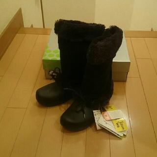 クロックス(crocs)の新品未使用タグ付きクロックスcrocsハレイウーマンブーツw6 22センチ(ブーツ)