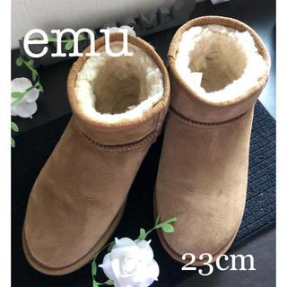 エミュー(EMU)の【美品】EMU ムートン ブーツ ショート丈 23cm(ブーツ)