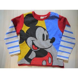ディズニー(Disney)の【未使用】ディズニー ミッキー トレーナー 95(Tシャツ/カットソー)
