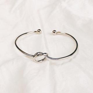 #007 simple knot bangle(silver/gold)(ブレスレット/バングル)