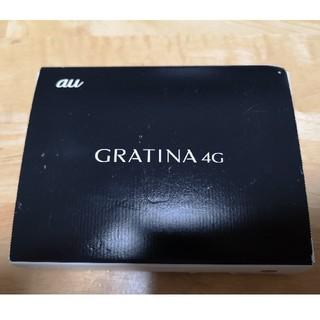 新品 未使用 au GRATINA 4G ブラック(携帯電話本体)