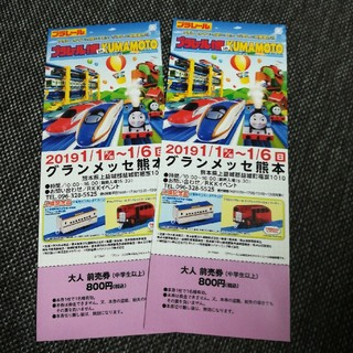 定価以下! プラレール博 熊本 大人 チケット2枚(その他)