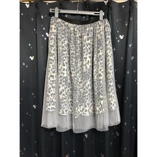 新品 未使用 ヒョウ柄 スカート 5L(ひざ丈スカート)