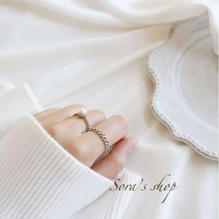 新作*ホワイトパールリング silver ring S925 **JER-010(リング(指輪))