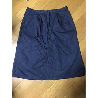 ムジルシリョウヒン(MUJI (無印良品))の無印良品 ネイビースカート未使用(ひざ丈スカート)