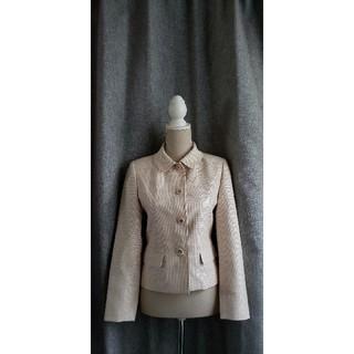 クレージュ(Courreges)の大変美品 courreges 日本製 ベーシックジャケット シルク/ウール(テーラードジャケット)