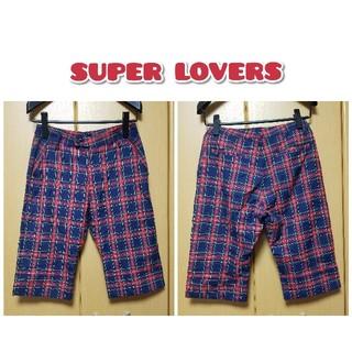 スーパーラヴァーズ(SUPER LOVERS)のSUPER LOVERS●チェックハーフパンツ 今月末までの出品(ハーフパンツ)
