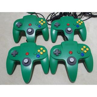 ニンテンドー64 nintendo 64 コントローラー 4個 グリーン(家庭用ゲーム本体)
