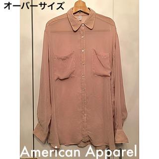 アメリカンアパレル(American Apparel)のAmerican Apparel シフォン ブラウス(シャツ/ブラウス(長袖/七分))