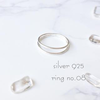 新品シルバー925☆重ね付け風リング☆(リング(指輪))