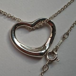Tiffany & Co. - 正規品 ティファニー オープンハート ネックレス Mサイズ ペンダント