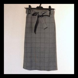 ジーユー(GU)のGU*グレンチェックタイトスカート(ひざ丈スカート)