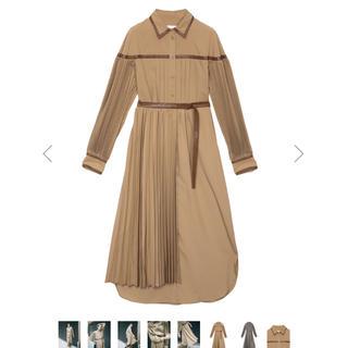Ameri VINTAGE - Ameri vintage* PLEATS BELT LAYERED DRESS