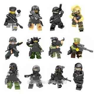 【送料無料】レゴ互換 特殊部隊 SWAT12体セット 武器多数  ② 00020(ミリタリー)