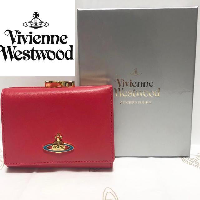 Vivienne Westwood(ヴィヴィアンウエストウッド)のセール!【訳あり・新品】Vivienne Westwood ガマ口 ピンク 本物 レディースのファッション小物(財布)の商品写真