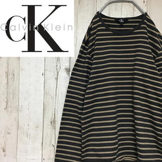 カルバンクライン(Calvin Klein)の【カルバンクライン】【厚手 長袖 ボーダー】【ロングTシャツ】(Tシャツ/カットソー(七分/長袖))