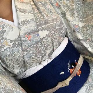17 着物 名古屋帯 袷 正絹 小紋 白紬 童 御所解文様 セット売り(着物)