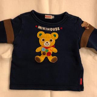 mikihouse - ミキハウス ボタンプッチー 編みぐるみ トレーナー 日本製 80