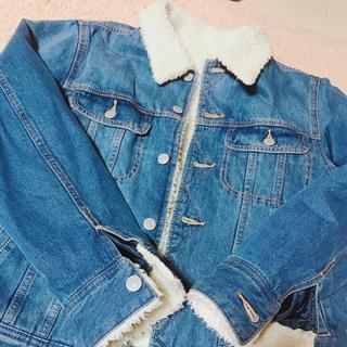 ジーユー(GU)のボアデニムジャケット メンズ Sサイズ(Gジャン/デニムジャケット)