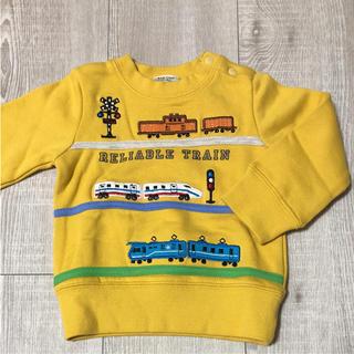 familiar - 新品未使用 電車刺繍のトレーナー 80サイズ