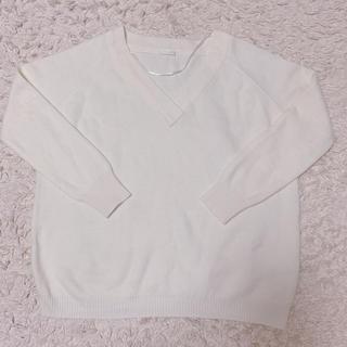ジーユー(GU)のGU vネックニット セーター(ニット/セーター)