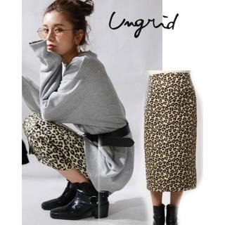 Ungrid - Ungrid レオパードタイトスカート Sサイズ