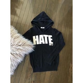 ロデオクラウンズ(RODEO CROWNS)の✴︎大人気♫ RODEO CROWNS HATE ブラック パーカー(パーカー)