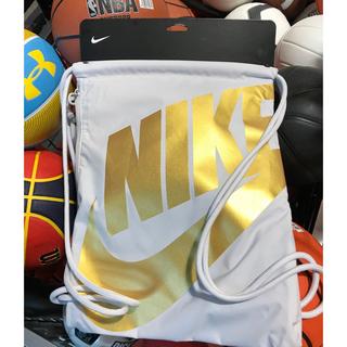 ナイキ(NIKE)の【新品】Nike USA ジム サック パック バッグ ホワイト/ゴールド(バッグパック/リュック)