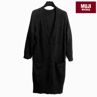 MUJI (無印良品) - シルク混カシミア ロングニットワンピース 無印良品 【美品】