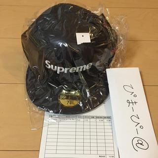 Supreme - 17aw polartec ear flap new era 黒 7.3/8