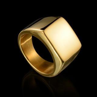 印台リング ゴールド ステンレス製(リング(指輪))