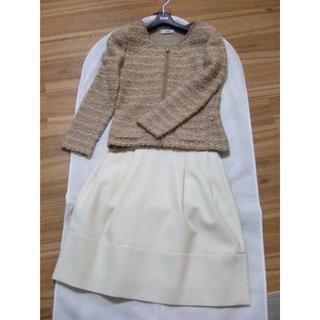 FOXEY - 冬のホワイトコーデに♪ FOXEY ウール混 スカート