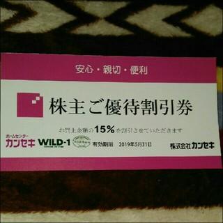 カンセキ株主優待券(寝袋/寝具)