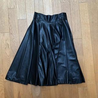 snidel - スナイデル フェイクレザースカート