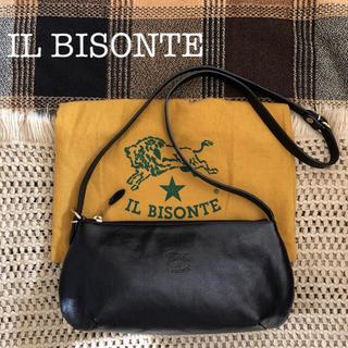 イルビゾンテ(IL BISONTE)のレア♡極美品♡価格3.5万♡イルビゾンテ✱2way レザー バッグ✱ブラック 黒(ショルダーバッグ)