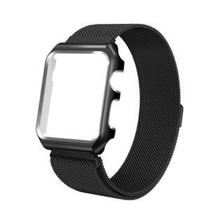 人気Apple Watch バンド ミラネーゼループ 黒 42mmマグネット20(ラバーベルト)