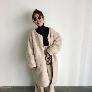 [新品・未使用]mite long boa coat[ロングボアコート](ロングコート)