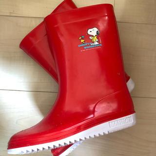 12月処分! スヌーピー  アサヒ レインブーツ 赤 20.0cm(長靴/レインシューズ)