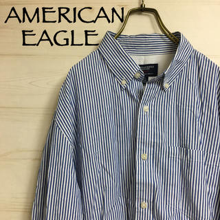 アメリカンイーグル(American Eagle)のAMERICAN EAGLE ☆ アメリカンイーグル ストライプシャツ(シャツ)